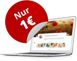 +++ Eigenes Gedenkportal für nur 1€ +++