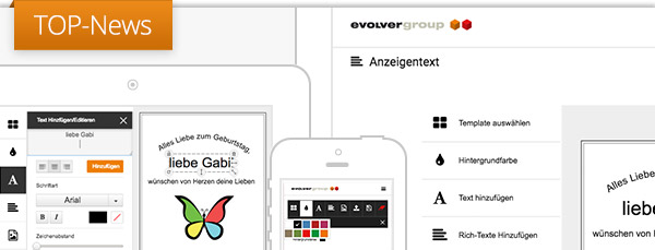 +++ TOP News: Neuer Webeditor zur Erstellung und Gestaltung von Anzeigen +++
