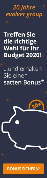 + + + Weckruf für Ihre Budget-Entscheidung: 20% Bonus + + +